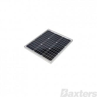 Redarc 50W Mono Solar Panel Anodised Aluminium Frame, Robust tempered glass coating