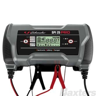Schumacher SPi Pro Battery Charger 12/24V 16/8A Includes Desulphation and Lithium Charge Modes