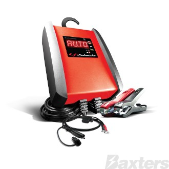 Schumacher Battery Charger 12V 10A Microprocessor Controlled Multi-Stage Charging AGM, Standard, Gel Cell, Calcium & Stop/Start