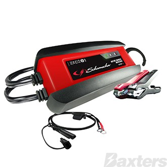 Schumacher Battery Charger 6/12V 2A Microprocessor Controlled Multi-Stage Charging AGM, Standard & Gel Cell