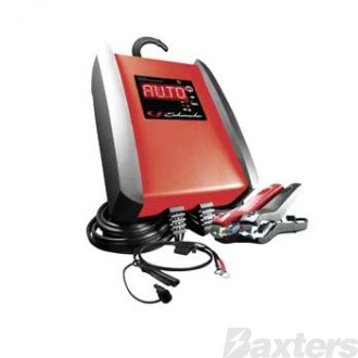Schumacher Battery Charger 12V 6A Microprocessor Controlled Multi-Stage Charging AGM, Standard, Gel Cell, Calcium & Stop/Start