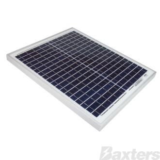 Solar Panel 20w-12v Poly Series 4a 440x350x25mm