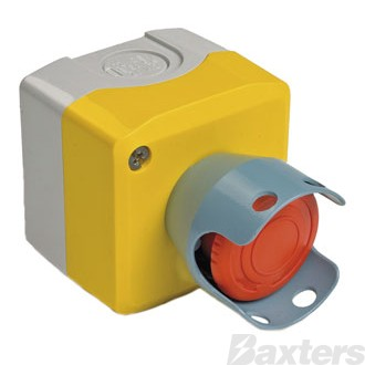Emergency Stop With Guard Push Button Latching On-Off