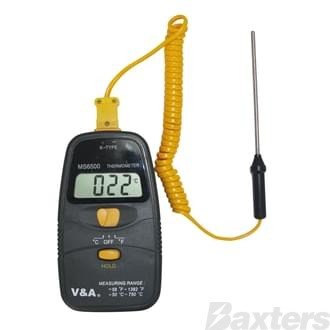 Auto A/C Digital Thermometer with Probe