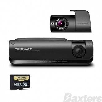 Thinkware 4G LTE Connected Full HD Dual Dash Camera Kit 32GB Connects to Smartphone