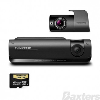 Thinkware 4G LTE Connected Full HD Dual Dash Camera Kit 64GB Connects To Smartphone