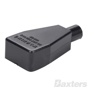 Battery Terminal & Lug Protectors Black 2 B&S Straight Pack 5
