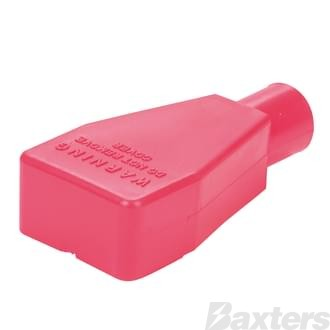 Battery Terminal & Lug Protectors Red 0 - 00 B&S Straight