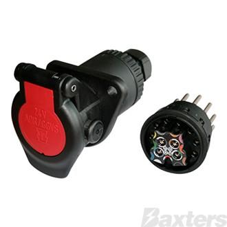 Erich Jaeger 15P socket 24V screw term 15.5 Bayonette outlet