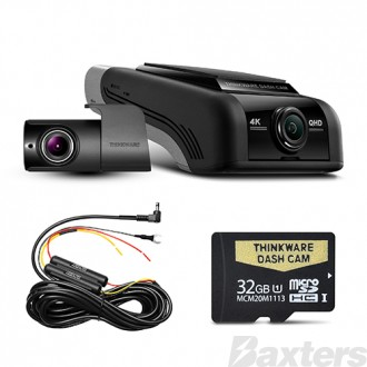 Thinkware Front & Rear Dash Cam 32GB 4K 2160P includes HWC Kit