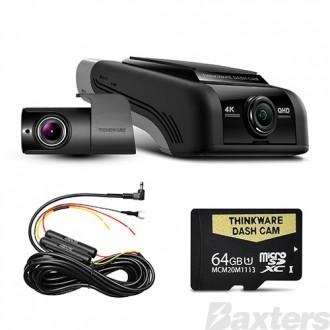 Thinkware Front & Rear Dash Camera U1000 64GB 4K 2160P Resolution