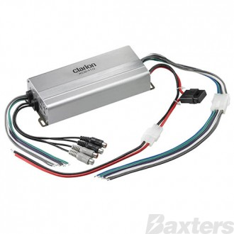 Clarion Micro Size 4 Channel Class D Amplifier Corrosion Resistant Achieves High Quality Sound